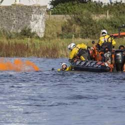 Ferryside Lifeboat on a training exercise near Carmarthen